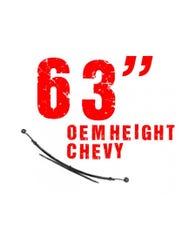 """63"""" OEM Height Chevy Leaf Spring, 4 Leaf (Individual)"""