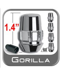 GORILLA CHROME LUG LOCK SET (5 LOCKS) 12MM X 1.5 FOR 2007-2014 TOYOTA FJ CRUISER (71631NB5)