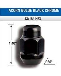 BLACK LUG NUTS 14MM X 1.5