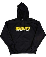 Wheeler's Black Logo Hoodies