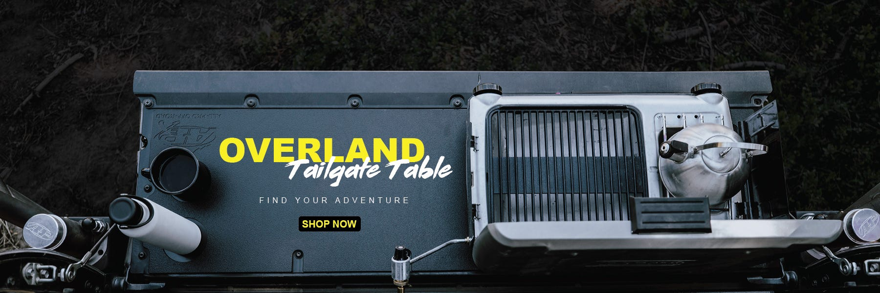 All-Pro Off-Road 2005-Current Toyota Tacoma Overland Tailgate Table